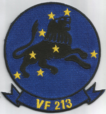 NAVY VF-213 Aviation Fighter Squadron Military Patch BLACK LIONS