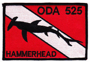 ARMY 1st Battalion 5th Special Forces Group Operational Detachment Alpha ODA 525 Military Patch HAMMERHEAD