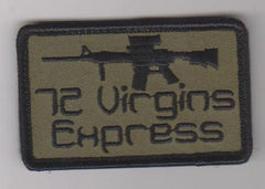 72 VIRGINS EXPRESS VELCRO MORALE PATCH - OD