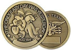 SEAL TEAM Only Easy Day Challenge Coin