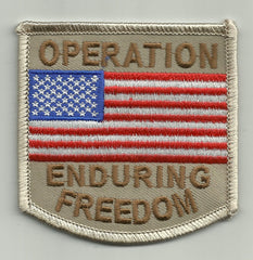 OPERATION ENDURING FREEDOM US FLAG PATCH