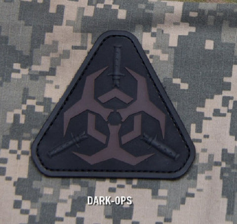 OUTBREAK RESPONSE TEAM Tactical Combat ZOMBIE Badge PVC - DARK OPS