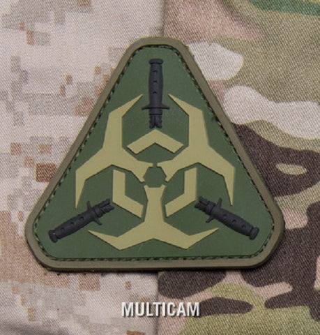 OUTBREAK RESPONSE TEAM Tactical Combat ZOMBIE Badge PVC - MULTICAM
