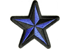 BLACK & BLUE STAR PATCH