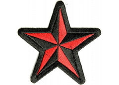 BLACK & RED STAR PATCH