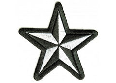 BLACK & WHITE STAR PATCH