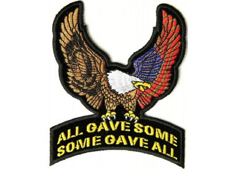 POW MIA EAGLE PATCH ALL GAVE SOME