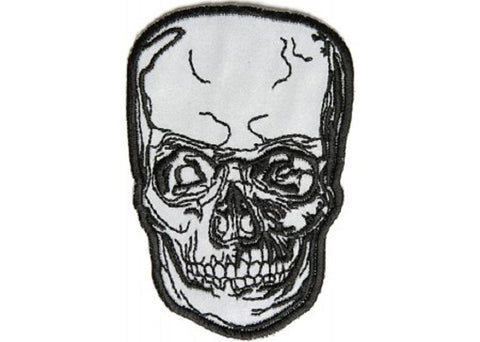 REFLECTIVE DEATH SKULL PATCH