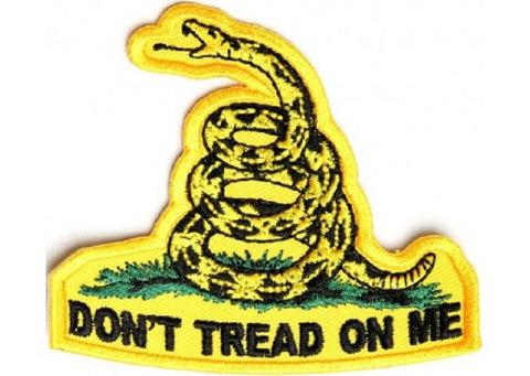 DON'T TREAD ON ME BIKER MILITARY PATCH - SMALL