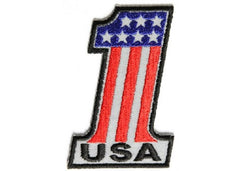 REFLECTIVE NUMBER #1 USA FLAG PATCH