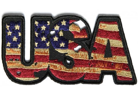 VINTAGE STYLE USA AMERICAN FLAG PATCH