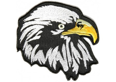 WHITE EAGLE FACING RIGHT MILITARY BIKER PATCH