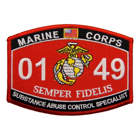 0149 SUBSTANCE ABUSE CONTROL SPECIALIST USMC MOS MILITARY PATCH