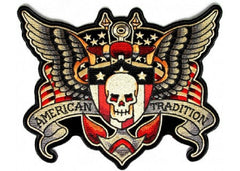 AMERICAN TRADITION DEATH SKULL WINGS PATCH