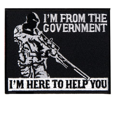 """I'M FROM THE GOVERNMENT"" MILITARY PATCH - BIKER JACKET VEST PATCH"