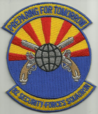82nd Security Forces Squadron USAF Military Patch PREPARING FOR TOMORROW