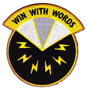 ARMY 17th Psychological Operations Battalion Military Patch WIN WITH WORDS