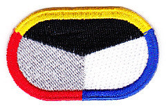 ARMY 18th Psychological Airborne Operations Command Military Patch OVAL