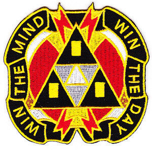 ARMY 9th Psychological Operations Battalion Military Patch WIN THE MIND WIN THE DAY