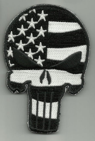 PUNISHER SKULL VELCRO MORALE PATCH - GLOW IN THE DARK FLAG