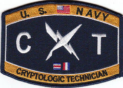 United States NAVY Technical Rating Cryptologic Technician Military Patch CT