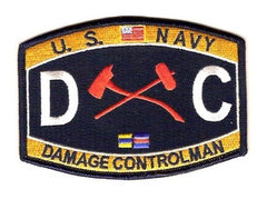 United States NAVY Engneering Rating Damage Controlman Military Patch DC