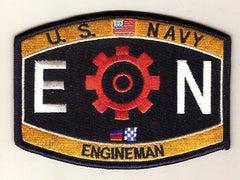 United States NAVY Engineering Rating Engineman Military Patch EN