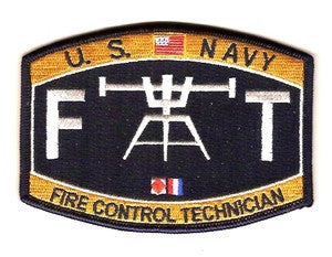 United States Navy Technical Deck Rating Fire Control Technician Military Patch FT