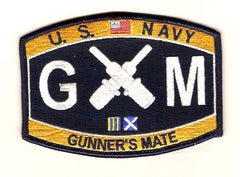 Navy Weapons Specialty Rating Gunners Mate Military Patch GM