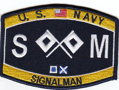United States NAVY Deck Rating Singnalman Military Patch SM