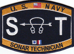 United States NAVY Technical Rating Sonar Technician Military Patch ST