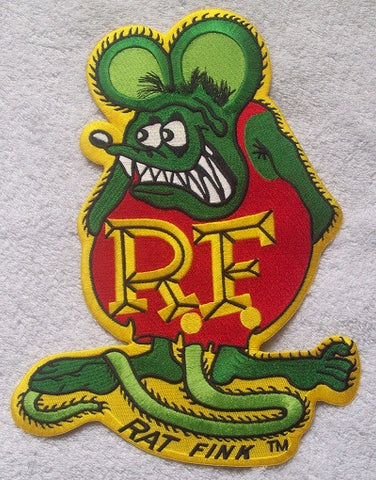 "LARGE Officially Licensed ED ""BIG DADDY"" ROTH Rat Fink Back Patch RED & GREEN"