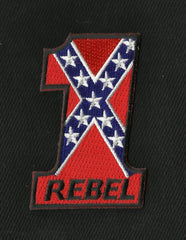 NUMBER #1 REBEL CONFEDERATE FLAG PATCH