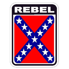 REBEL CONFEDERATE FLAG MILITARY CAR VEHICLE WINDOW DECAL PATRIOTIC STICKER