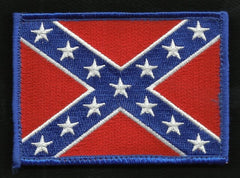 AMERICAN REBEL CONFEDERATE FLAG VELCRO PATCH FULL COLOR