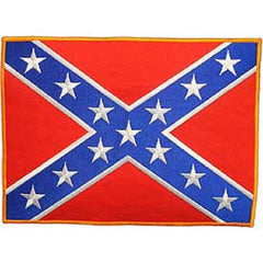 LARGE CONFEDERATE REBEL FLAG BACK PATCH