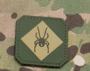 RED BACK ONE MULTICAM SPIDER TACTICAL COMBAT TRAINING BADGE MORALE PVC VELCRO MILITARY PATCH