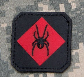 RED BACK ONE RED SPIDER TACTICAL COMBAT TRAINING BADGE MORALE PVC VELCRO MILITARY PATCH