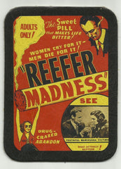 LEATHER REEFER MADNESS POSTER PATCH