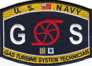 United States NAVY Engineering Gas Turbine System Technician Navy Military Patch GS