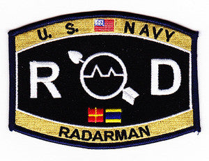 United States NAVY Technical Deck Rating Radarman Military Patch RD