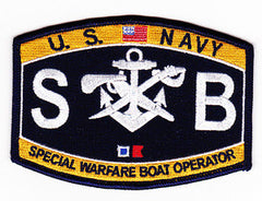 United States NAVY Weapons Rating Special Warfare Boat Operator Military Patch SB