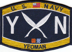 United States NAVY Deck Rating Yeoman Military Patch YN