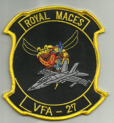 VFA-27 Navy Strike Fighter Squadron Twenty Seven Military Patch ROYAL MACES