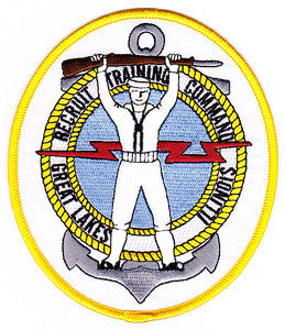 RECRUIT TRAINING COMMAND US Navy Great Lakes Illinois Military Patch