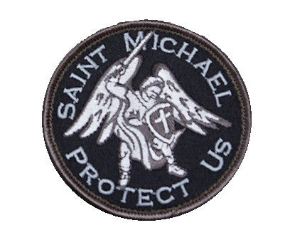 SAINT MICHAEL PROTECT US - SWAT - TACTICAL BADGE MORALE HOOK MILITARY PATCH