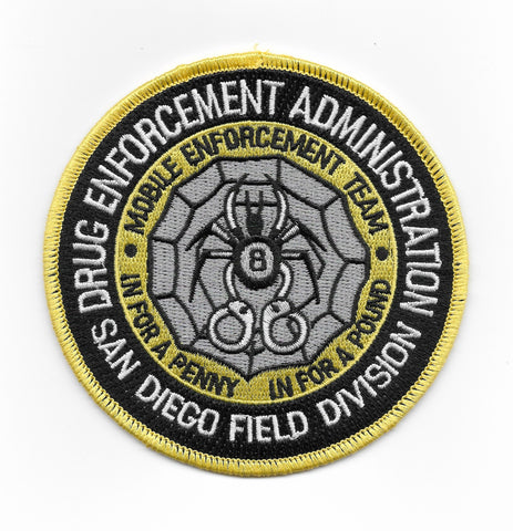 Drug Enforcement Administration San Diego Field Division DEA Patch