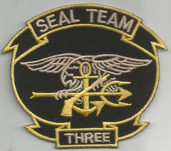 UNITED STATES NAVY SEAL TEAM THREE MILITARY PATCH - SEAL TEAM 3