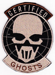 "SPECIAL FORCES GROUP GHOST RECON ADVANCED WARFARE ""VELCRO"" MILITARY PATCH GRAW CERTIFIED GHOSTS"