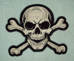 SKULL AND CROSSBONES BACK PATCH